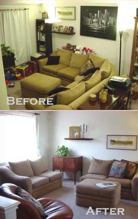 Home Staging Living Room Interior Design Before And After